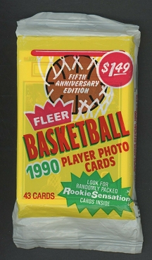 1990 Fleer Unopened Cello Wax Pack with Michael Jordan on top HARD TO FIND
