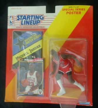 1992 UNOPENED Kenner Michael Jordan Starting Lineup with Special Series 11X14 Poster