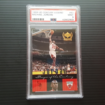 1999 Upper Deck Century Legend Michael Jordan Player of the Century #83 PSA 9