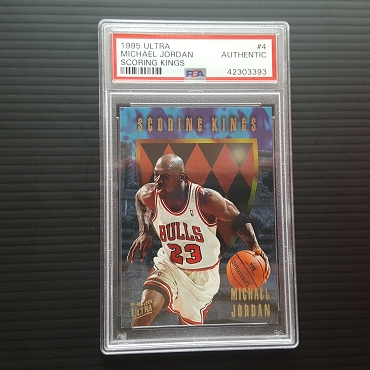 1995 Fleer ULTRA Michael Jordan Scoring Kings #4 PSA Authentic Population of 1
