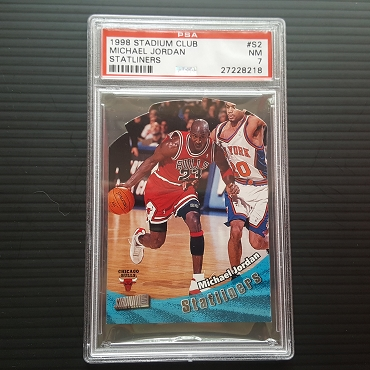 1998 Topps Stadium Club Michael Jordan Statliners Die Cut #S2 PSA 7
