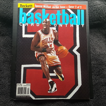 July 1998 Beckett Basketball Card Monthly Michael Jordan Cover 2 of 2