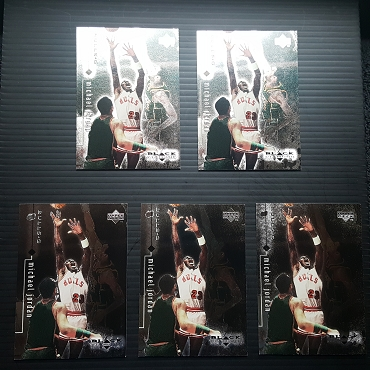 1999 Upper Deck BLACK DIAMOND #2 MICHAEL JORDAN 5 CARD LOT