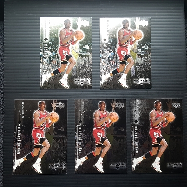 1999 Upper Deck BLACK DIAMOND #6 MICHAEL JORDAN 5 CARD LOT