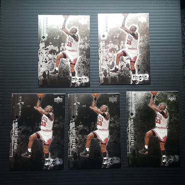 1999 Upper Deck BLACK DIAMOND #9 MICHAEL JORDAN 5 CARD LOT