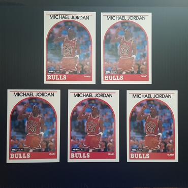 1989 Hoops Michael Jordan #200 NM-MT (5 card lot)