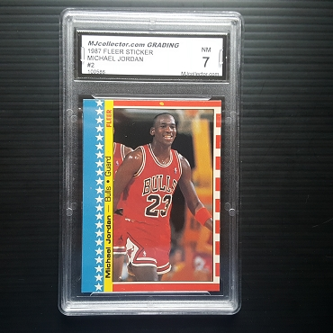 1987 Fleer Michael Jordan Sticker #2 Graded MJCG 7