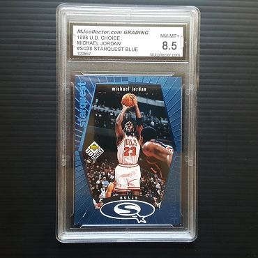 1998 Upper Deck Choice Michael Jordan Star Quest Blue Insert  MJCG 8.5