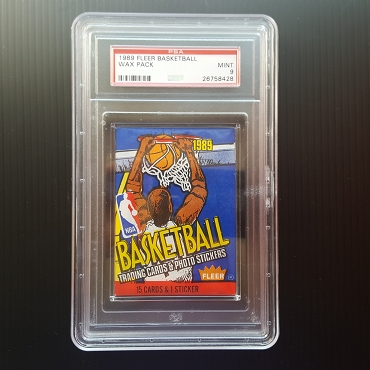 UNOPENED 1989 Fleer Wax Pack PSA Graded MINT 9