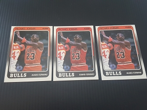 1988 Fleer #17 Michael Jordan 3 card LOT