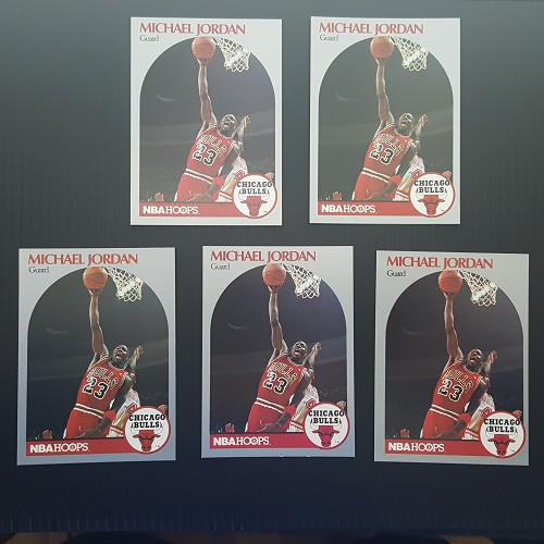 1990 Hoops Michael Jordan #65 NM-MT (5 card lot)