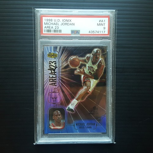 1998 Upper Deck IONIX Michael Jordan Area 23 #A1 Graded MINT PSA 9